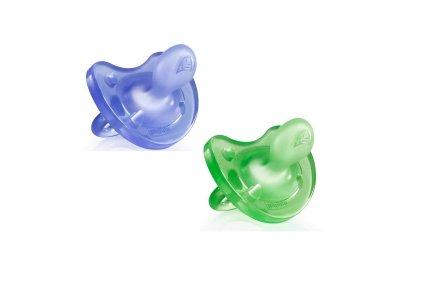 Chicco Physio Soft Smoczek 12m+-zielony / fioletowy mix