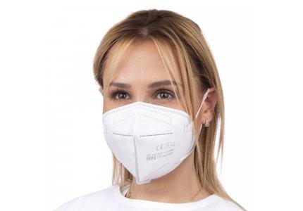 Maska, Certyfikowana filtrująca półmaska FFP2 EN149:2001 z grafenem BMSS 40 szt, 2 szt w folii