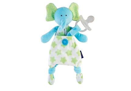 Chicco Pocket Friend 0m+-niebieski sloń