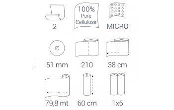 Bulkysoft podkład medyczny-60 cm X 80 m